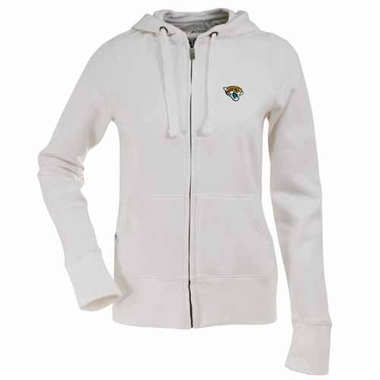 Jacksonville Jaguars Womens Zip Front Hoody Sweatshirt (Color: White)