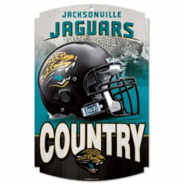 Jacksonville Jaguars Wood Sign