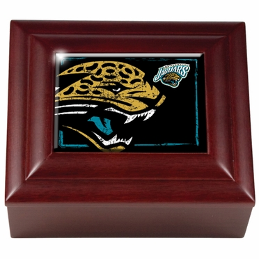 Jacksonville Jaguars Wooden Keepsake Box
