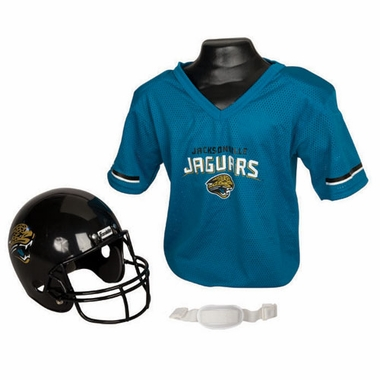 Jacksonville Jaguars Youth Helmet and Jersey Set