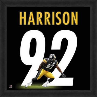"James Harrison, Steelers UNIFRAME 20"" x 20"""