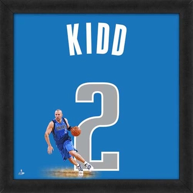 "Jason Kidd, Mavericks UNIFRAME 20"" x 20"""