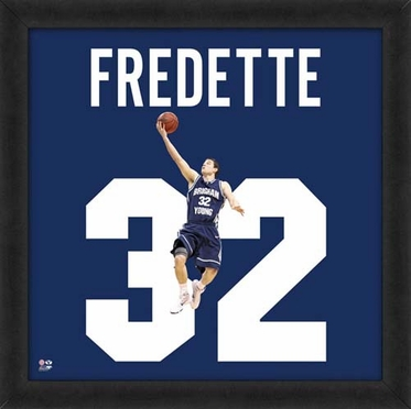"""Jimmer Fredette, Brigham Young Cougars UNIFRAME 20"""" x 20"""""""