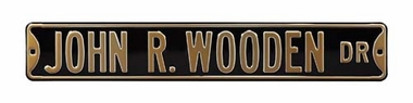 John R. Wooden Dr Street Sign