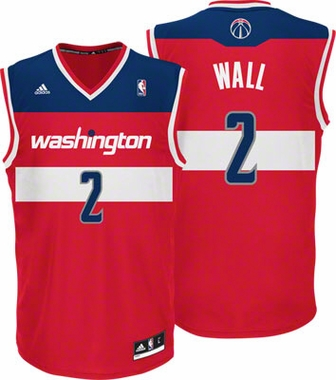John Wall Adidas Washington Wizards Red Replica YOUTH Jersey