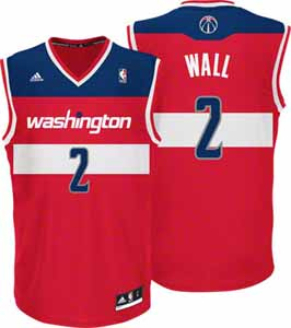John Wall Adidas Washington Wizards Red Replica YOUTH Jersey - Medium
