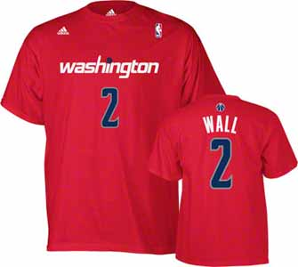 John Wall Washington Wizards YOUTH Adidas NBA Red Player T-Shirt - Medium