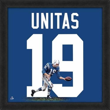 "Johnny Unitas, Colts UNIFRAME 20"" x 20"""