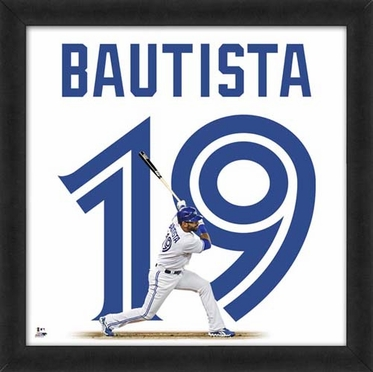 "Jose Bautista, Blue Jays UNIFRAME 20"" x 20"""