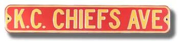 K.C. Chiefs Ave Street Sign