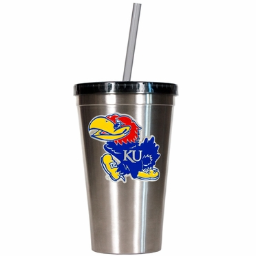Kansas 16oz Stainless Steel Insulated Tumbler with Straw