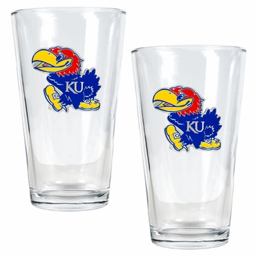 Kansas 2 Piece Pint Glass Set