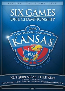 Kansas 2008 NCAA Title Run 6 DVD Set