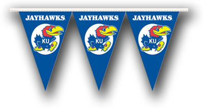 Kansas 25 Foot String of Party Pennants (P)
