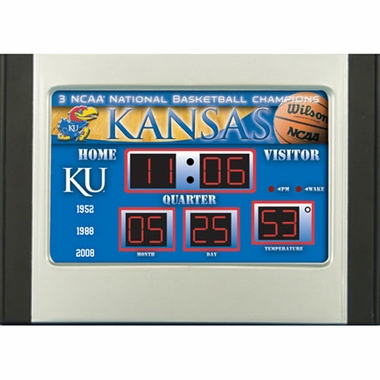 Kansas Alarm Clock Desk Scoreboard