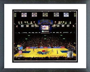 Kansas Allen Fieldhouse University of Kansas Jayhawks 2009 16x20 Framed and Double-Matted Photo