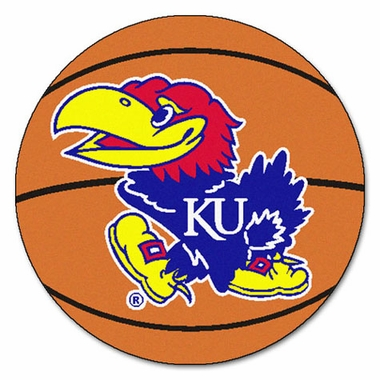 Kansas 27 Inch Basketball Shaped Rug
