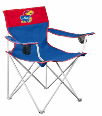 Kansas Big Boy Adult Folding Logo Chair