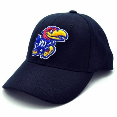 Kansas Black Premium FlexFit Baseball Hat