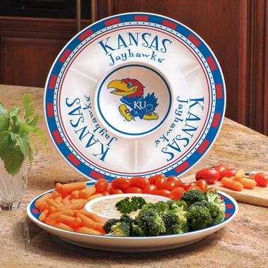 Kansas Ceramic Chip and Dip Plate