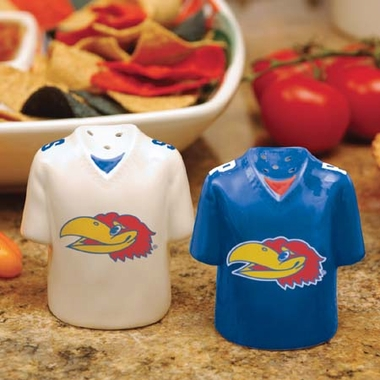 Kansas Ceramic Jersey Salt and Pepper Shakers