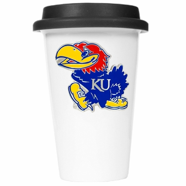 Kansas Ceramic Travel Cup (Black Lid)