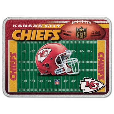 Kansas City Chiefs 11 x 15 Glass Cutting Board
