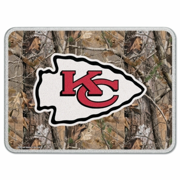 Kansas City Chiefs 11 x 15 Glass Cutting Board (Realtree)