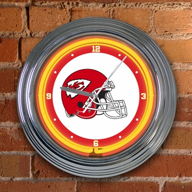 Kansas City Chiefs 15 Inch Neon Clock