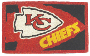 Kansas City Chiefs 18x30 Bleached Welcome Mat