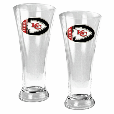 Kansas City Chiefs 2 Piece Pilsner Glass Set