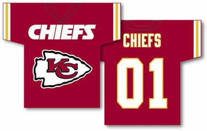 Kansas City Chiefs 2 Sided Jersey Banner Flag (F)