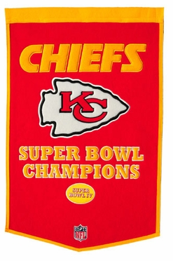 "Kansas City Chiefs 24""x36"" Dynasty Wool Banner"