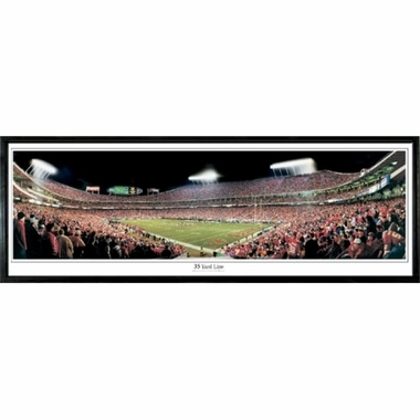 Kansas City Chiefs 35 Yard Line Framed Panoramic Print
