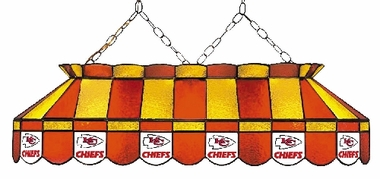 Kansas City Chiefs 40 Inch Rectangular Stained Glass Billiard Light