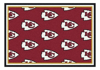 "Kansas City Chiefs 5'4"" x 7'8"" Premium Pattern Rug"