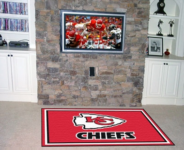 Kansas City Chiefs 5 Foot x 8 Foot Rug