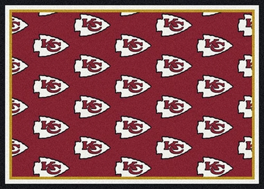 "Kansas City Chiefs 7'8 x 10'9"" Premium Pattern Rug"
