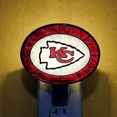Kansas City Chiefs Art Glass Night Light