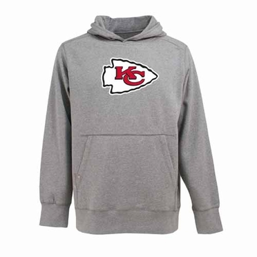 Kansas City Chiefs Big Logo Mens Signature Hooded Sweatshirt (Color: Gray)