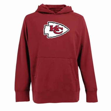 Kansas City Chiefs Big Logo Mens Signature Hooded Sweatshirt (Team Color: Red)