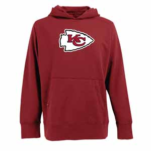 Kansas City Chiefs Big Logo Mens Signature Hooded Sweatshirt (Team Color: Red) - Medium