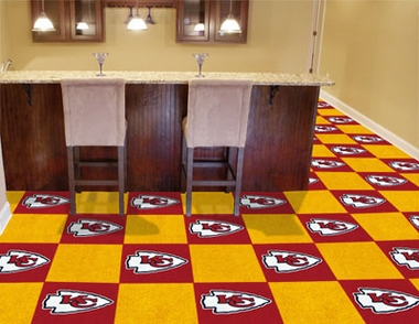 Kansas City Chiefs Carpet Tiles
