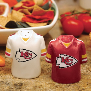 Kansas City Chiefs Ceramic Jersey Salt and Pepper Shakers