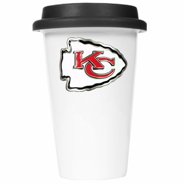 Kansas City Chiefs Ceramic Travel Cup (Black Lid)