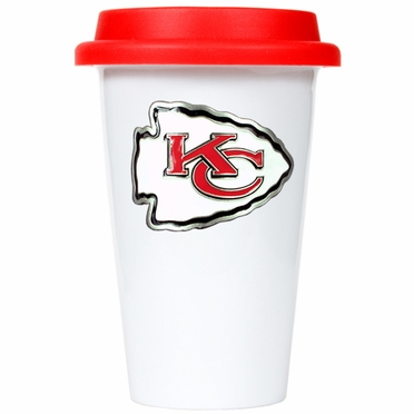 Kansas City Chiefs Ceramic Travel Cup (Team Color Lid)