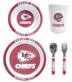 Kansas City Chiefs 5 Piece Children's Dinner Set