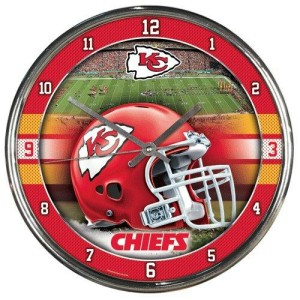Kansas City Chiefs Chrome Clock