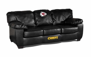 Kansas City Chiefs Leather Classic Sofa