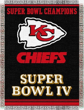 Kansas City Chiefs Commerative Jacquard Woven Blanket